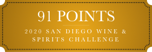 91 points 2020 san diego wine and spirits challenge