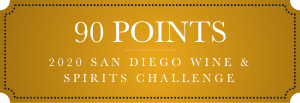90 points 2020 san diego wine and spirits competition