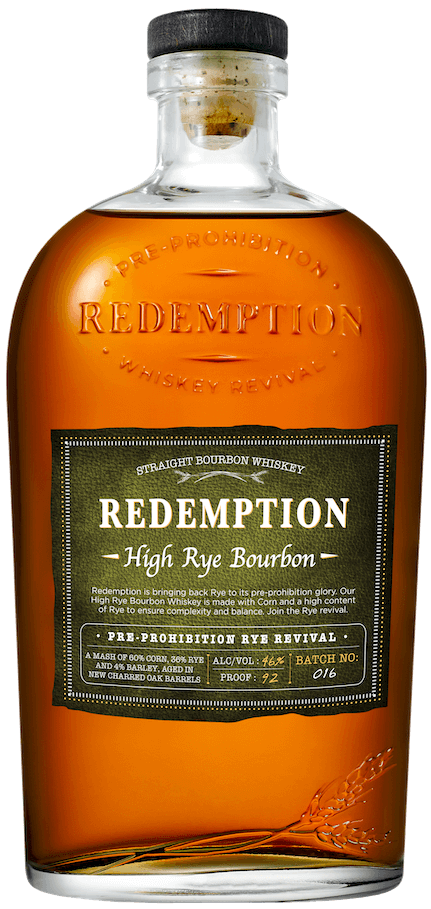 high rye bourbon whiskey