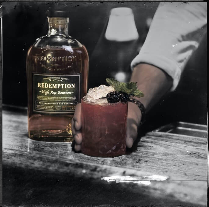whiskey cocktail on a counter