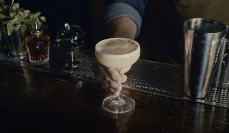 egg white sour cocktail